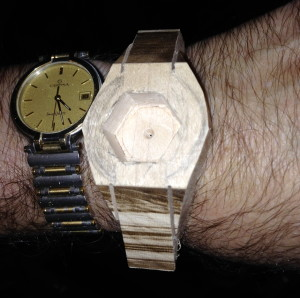 After making cuts on my blank at the band saw, it reminded me of an old Seiko watch I had in the '70s.
