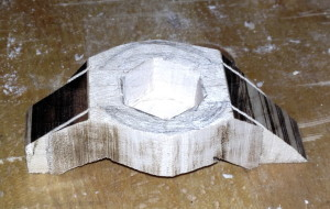 Side shot of knob, straight-from-band saw, to better see the shape.