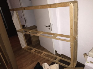 Box Spring partially re-built, but already very rigid and strong.
