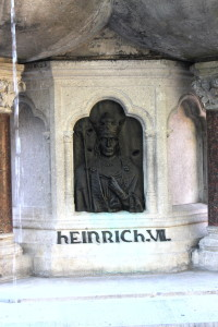 Heinrich, last panel on Baldwin statue.