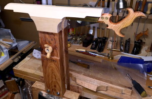 Finished saw vise holding Lie-Nielsen dovetail saw.